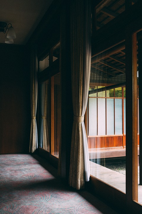 House, Architecture, Room, Curtain, Glass, Window
