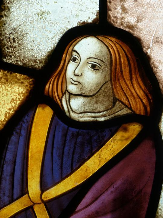 Image, Window, Stained Glass, Historically, Man, Face