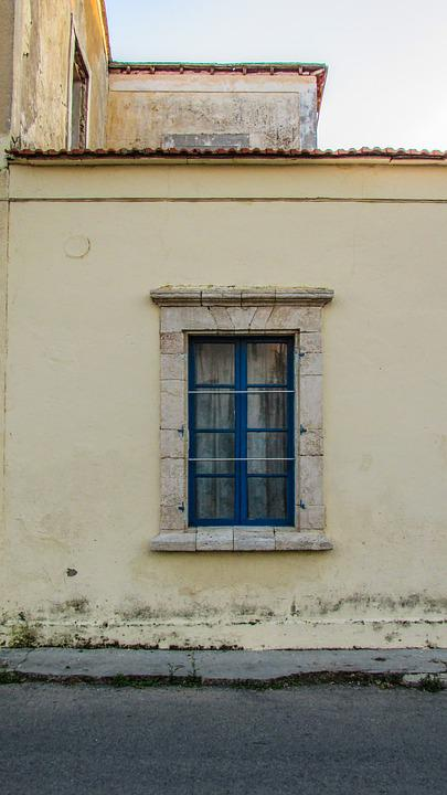 Cyprus, Paralimni, Old House, Window, Neoclassic
