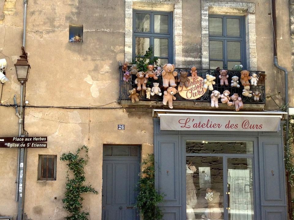 Old House, Village, Window, Facade, House, Store, Bear