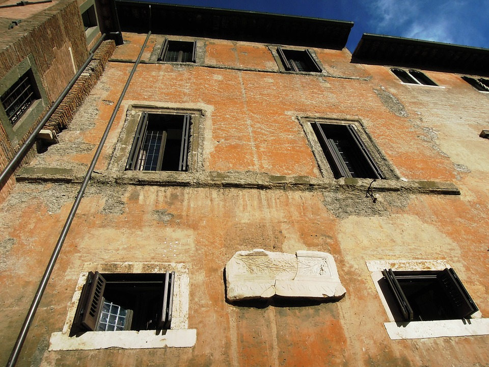 Rome, Italy, House, Old, City, Building, Window