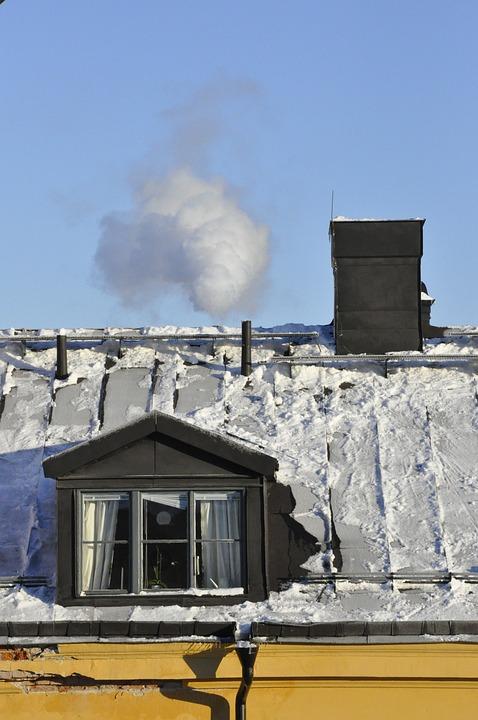Winter, Roof, Window