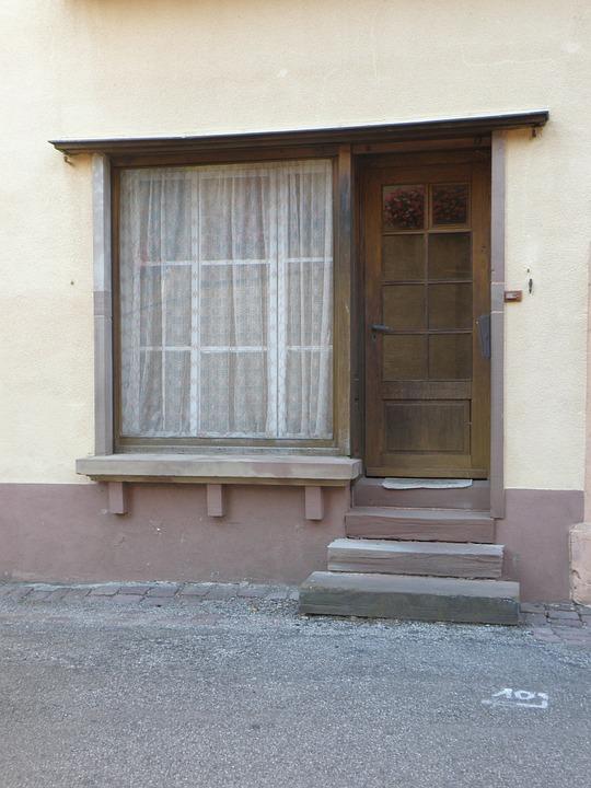 Window, Door, Entrance, Shop, France, House