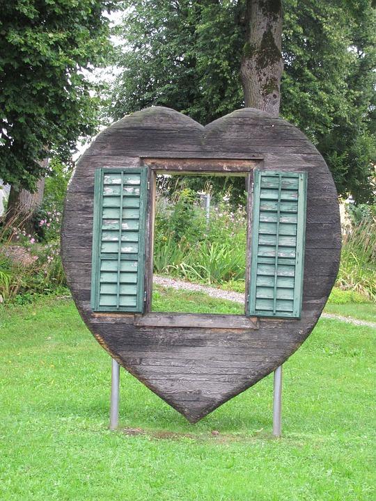 Window, Heart, Window Shutter, Park