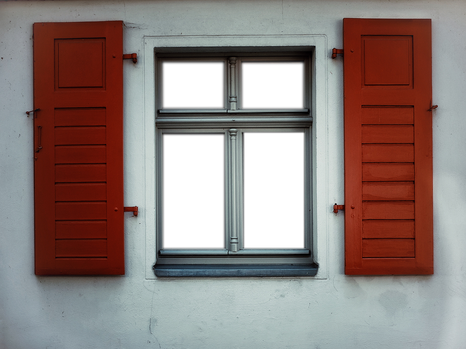 Transparent, Window, Shutters, Formerly, At That Time