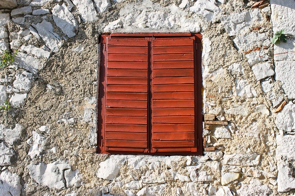 Window, Shutters, Window Bars, Closed, Wooden Windows