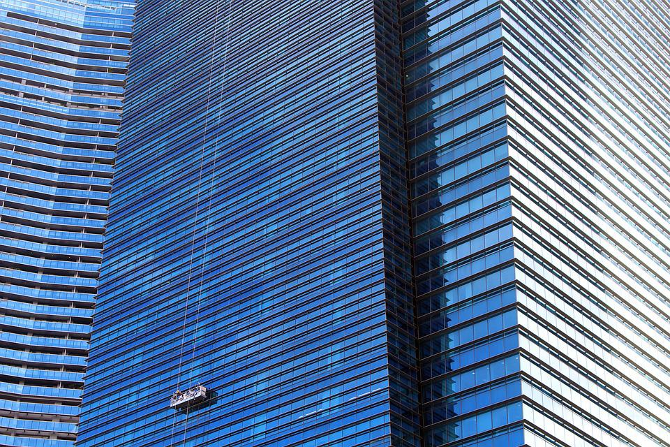 Skyscraper, Window Cleaner, Clean, Glasputzer, Window