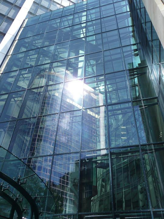 Skyscraper, Glass Facade, Frankfurt, Glass, Window