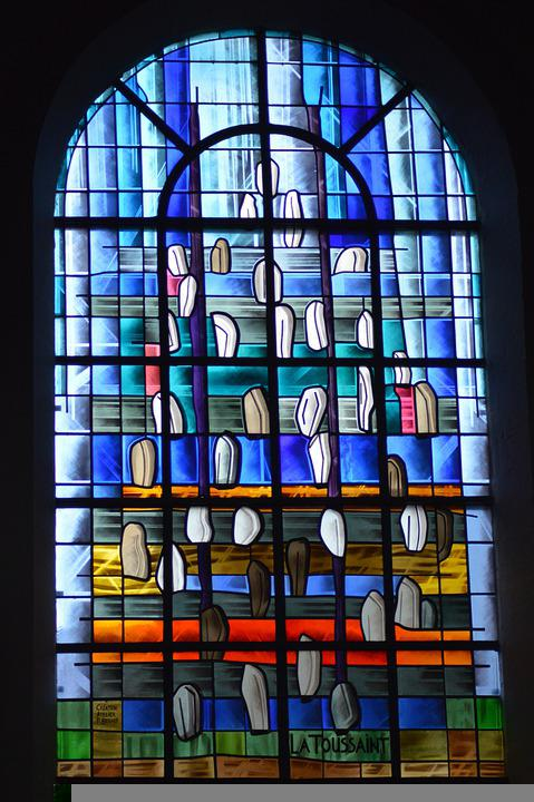 Stained Glass, Church, Abstract, Art, Window