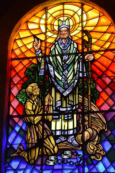 Stained Glass, Colorful, Window, Church, Beggar
