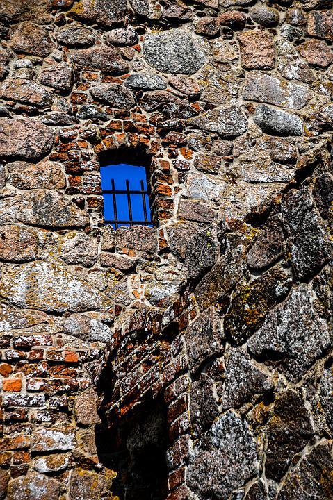Tower, Stone Wall, Window, Prison Window, Old Tower