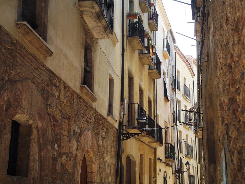 Spain, Tarragona, Street, Window, Architecture