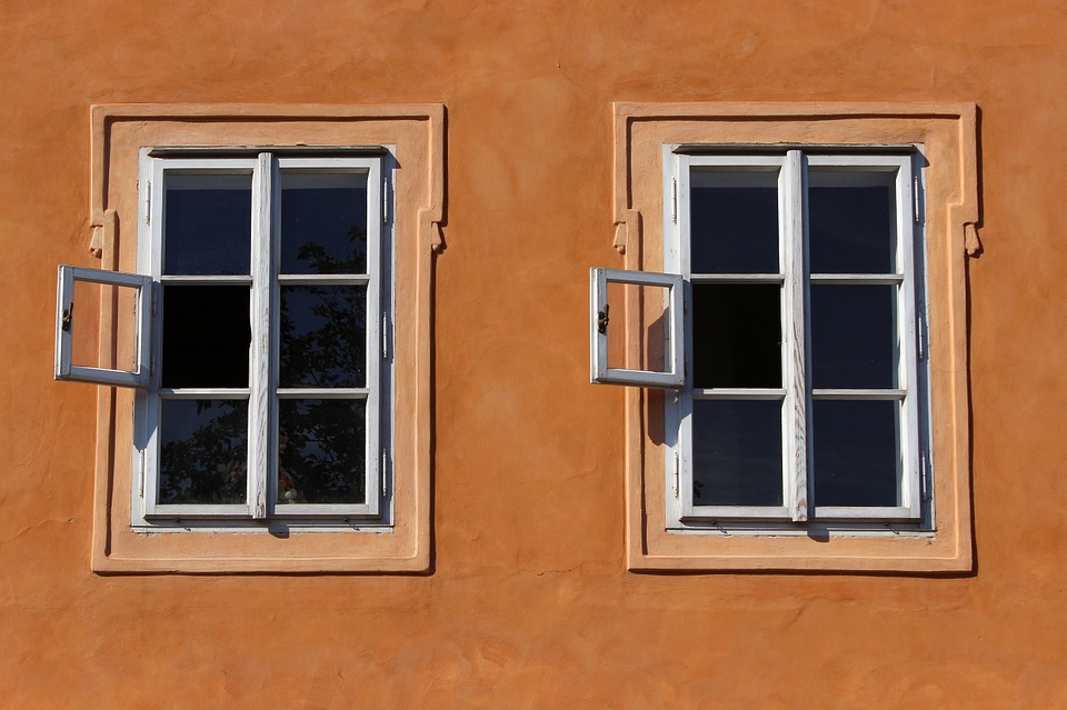 Window, Prague, Twins