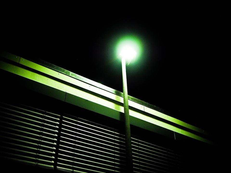 Lantern, Window, Night, Building, Venetian Blinds, City