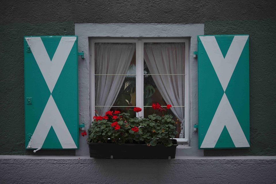 Shutters, Window, Facade, Geometry, Window-box
