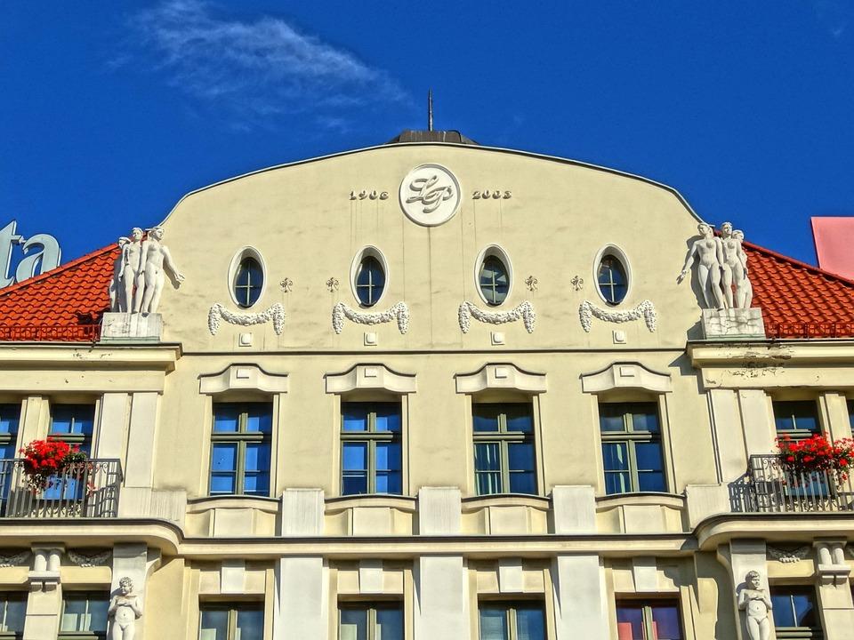 Bydgoszcz, Poland, Facade, Windows, Art Nouveau