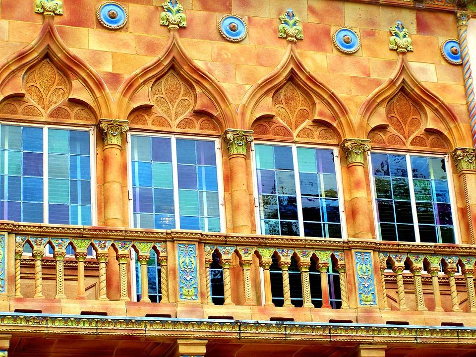 Sarasota, Summer, Color, Blue, Windows, Balcony, House