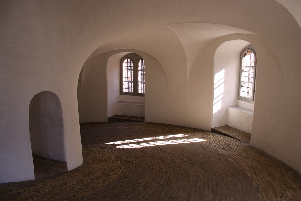 The Round Tower, Windows, Vault, Painted White
