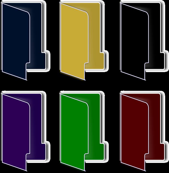 Folders, Set, Vista, Explorer, Windows Vista