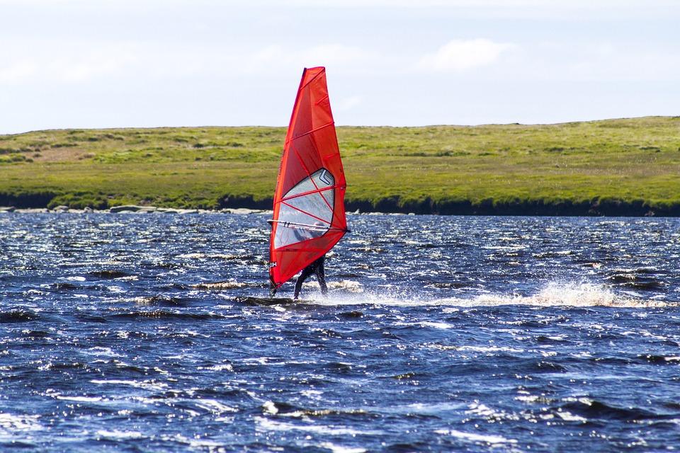 Windsurfer, Water, Windsurfing, Surfing, Sport, Wind