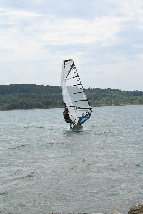 Windsurfing, Surfer, Sail