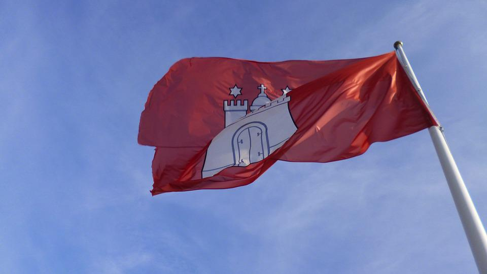 Hamburg, Flag, Windy