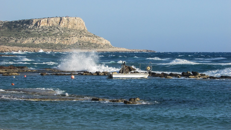 Cyprus, Cavo Greko, Rocky Coast, Waves, Windy, Sea