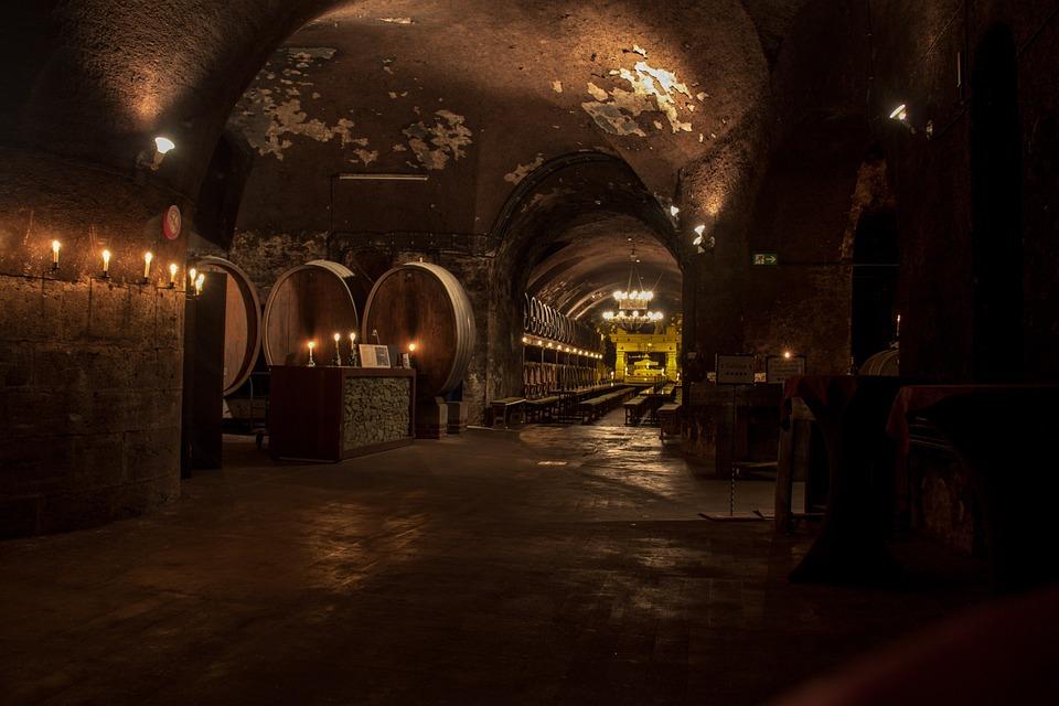 Cellar, Wine, Wine Barrels, Wine Storage, Barrel