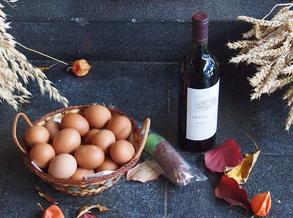 Thanksgiving, Wine, Autumn, Meat, Egg, Cereals