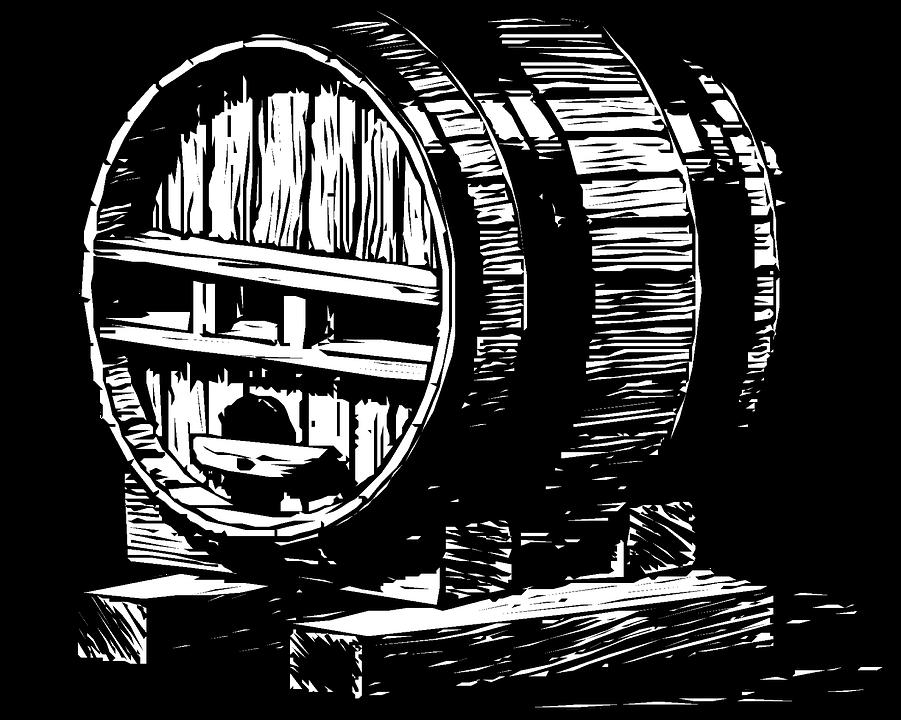 Vintage, Clip Art, Wine, Tub, Brew, Brewery