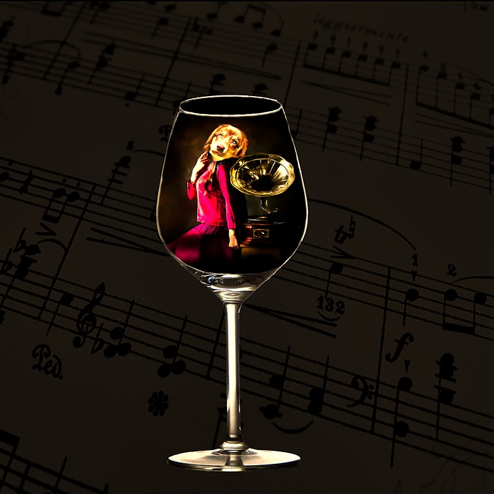 Composing, Wine, Alcohol, Glass