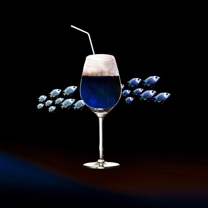 Composing, Drink, Wine, Glass, Alcohol, Bar