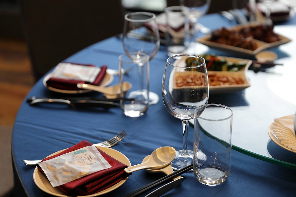 Table, Table Setting, Cutlery, Wine Glasses, Banquet