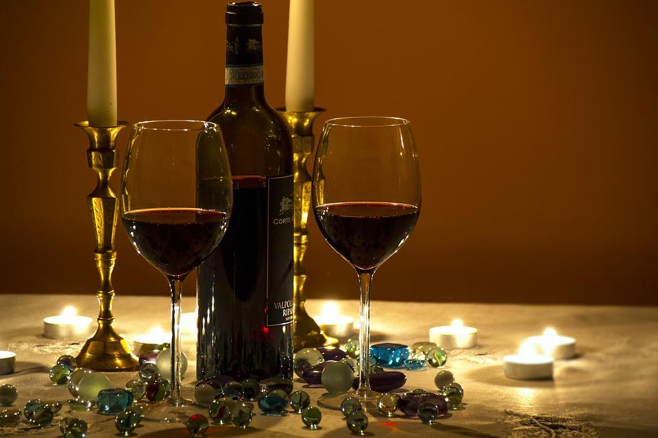 Wine, Wine Glasses, Moody Evening, Lifestyle
