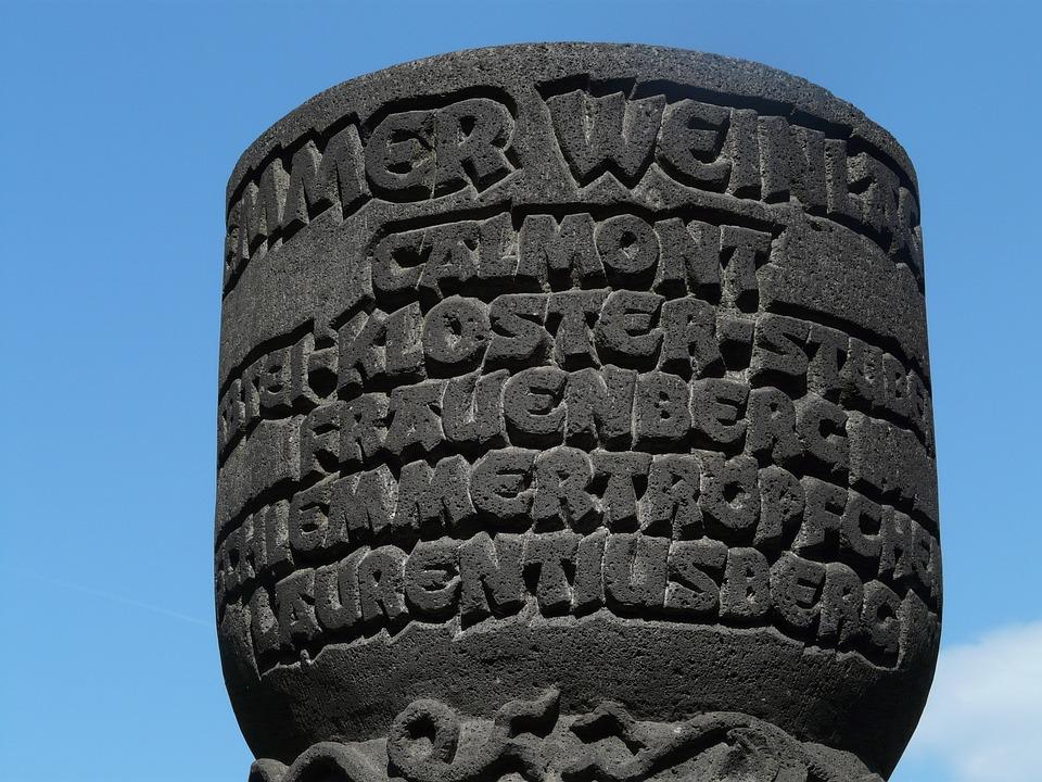 Monument, Wine City, Wine, Bremm, Sachsen, Mosel