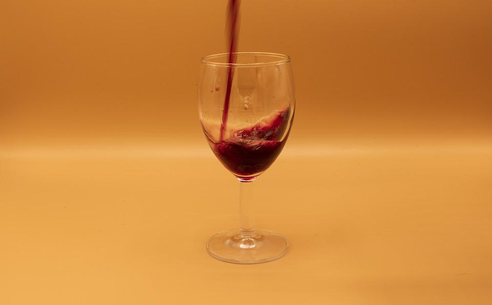 Wine, Goblet, Products, Running Water
