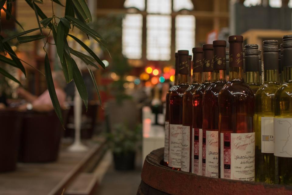 Wine, Bottles, Plant, Pink, Still Life, Wine Bottle