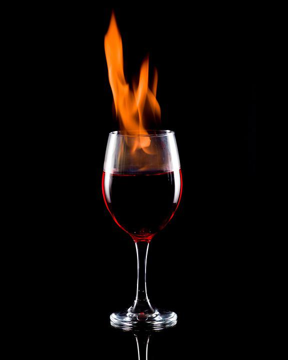 Glass, Glassware, Flame, Wine, Fire, Wine Glass