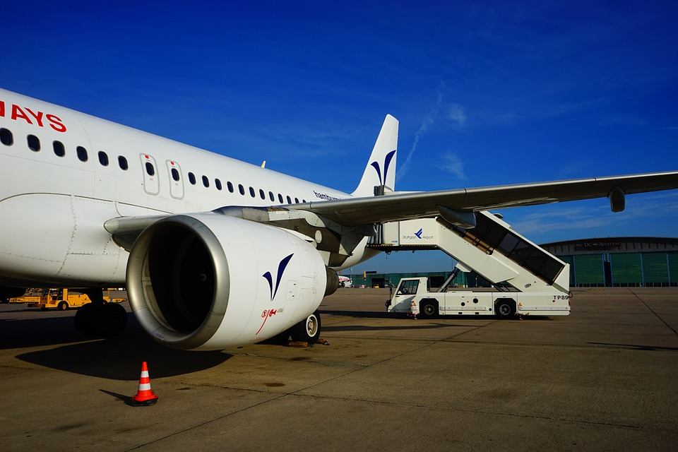 Aircraft, Turbine, Wing, Gangway, Passenger Stairs