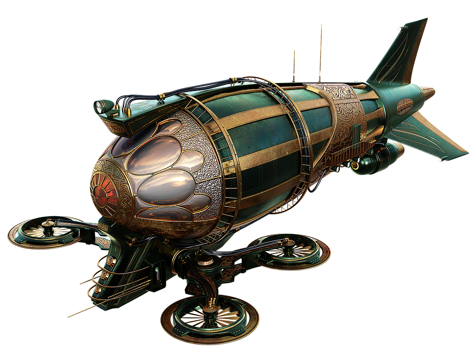 Aircraft, Airship, Steampunk, Flying, Wing, Technology