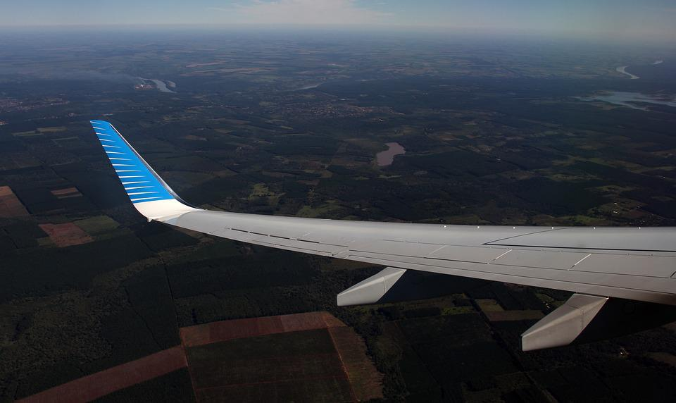 Airplane Wing, Flying, Airplane, Wing, Aircraft, Plane