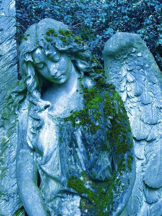 Angel, Sculpture, Hope, Wing, Grave, Silent, Park