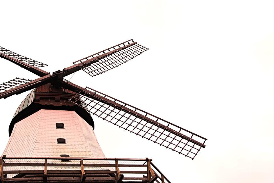 Windmill, Mill, Northern Germany, Wind, Wing, Sky