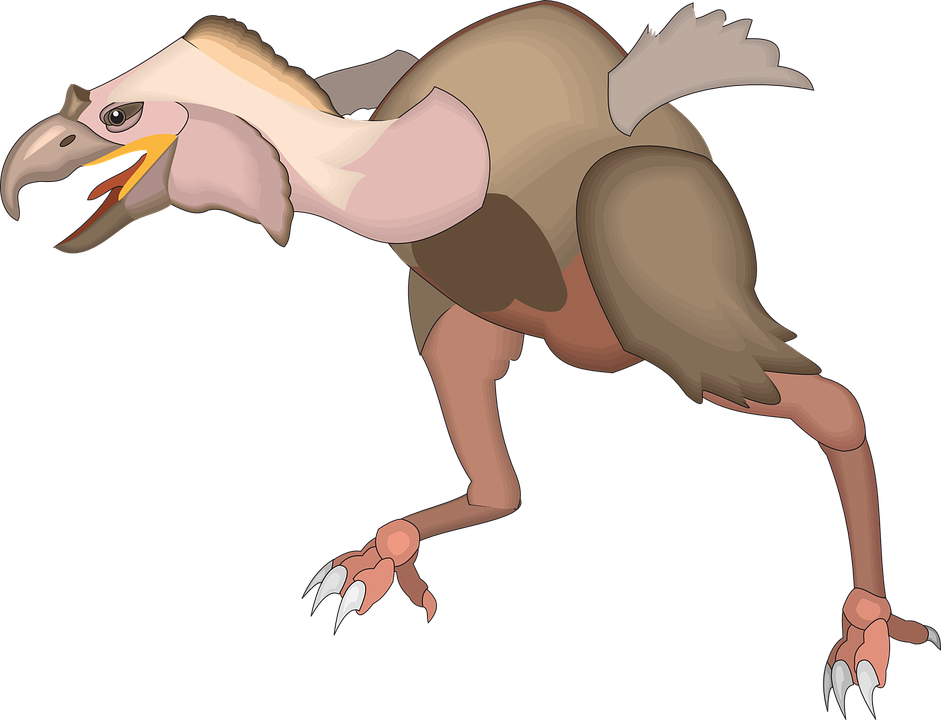 Bird, Wing, Running, Animal, Ancient