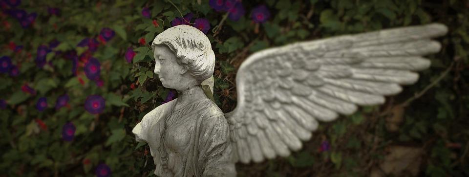 Statue, Torso, Wing, Angel