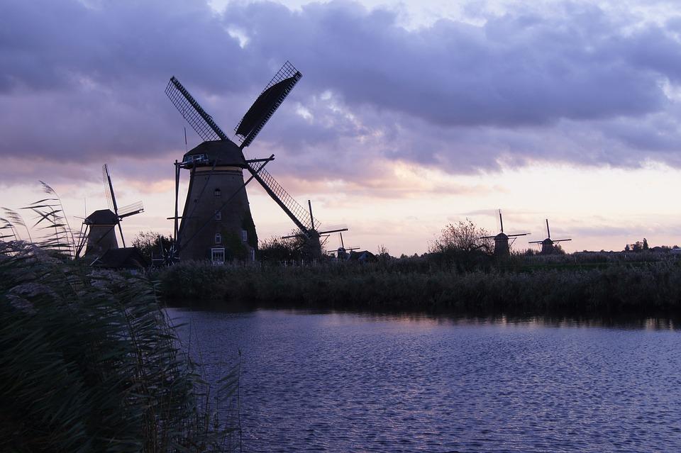 Windmill, Mill, Sky, Wing, Building, Wind, Windräder