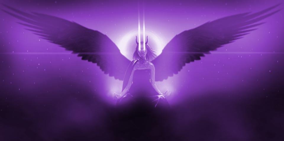 Cosmos, Angel, Girl, Stars, Infinity, Wings, Darkness