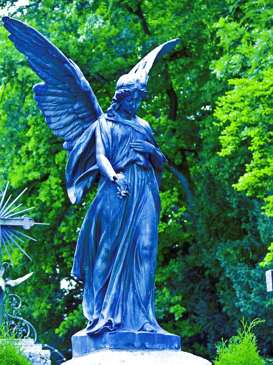 Statue, Angel, Wings, Grave, Sculpture, Religion