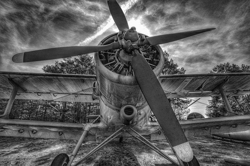 Aircraft, Propeller, Double Decker, Wings, Aviation