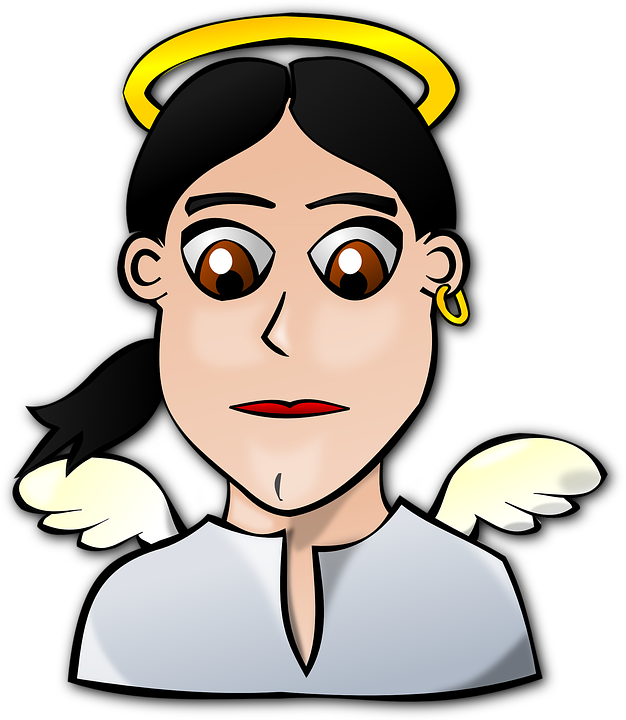 Angel, People, Faces, Face, Wings, Angels, Female